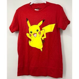Pokemon Pikachu Red Short Sleeve T-shirt - NEW